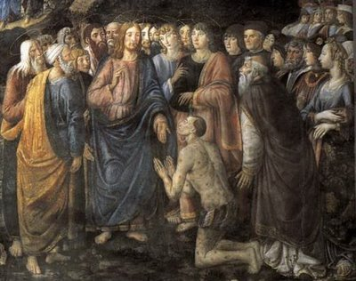 Cosimo Rosselli, The Healing of the Leper (detail), Cappella Sistina, Vatican, 1481-82
